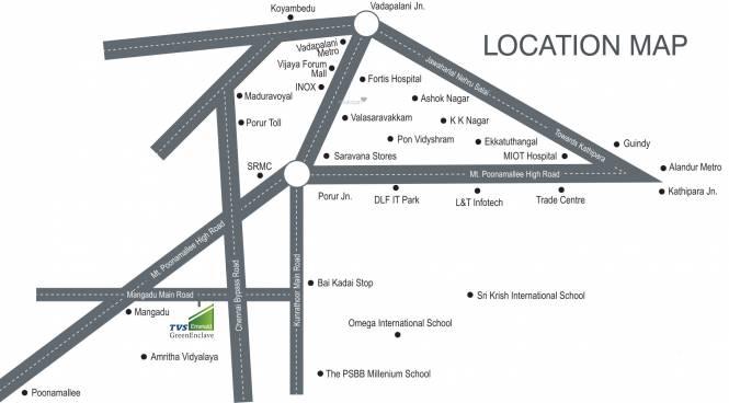 TVS Emerald Green Enclave Location Plan