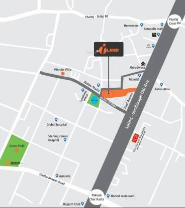 Akshar Iland Location Plan
