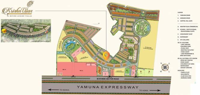 Gaursons Krishn Villa Master Plan