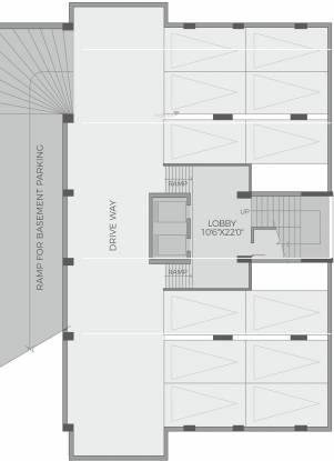 Amphi Ivory 3 Bedroom Homes Cluster Plan