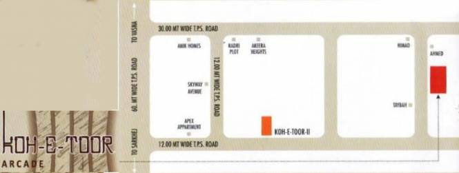 Firdosh Koh E Toor Arcade Location Plan