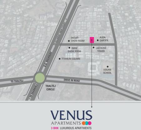Hiradhan Venus Apartments Location Plan