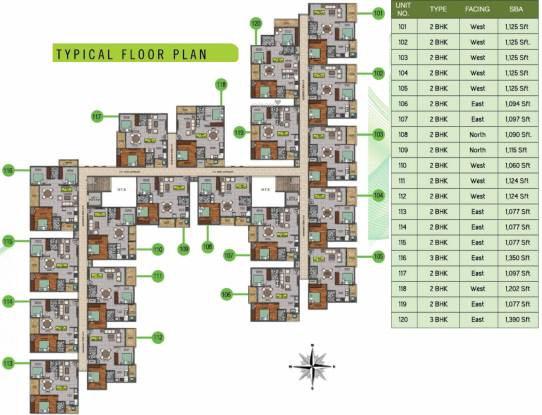 Sri Dwaraka Sai Balaji Residency Cluster Plan