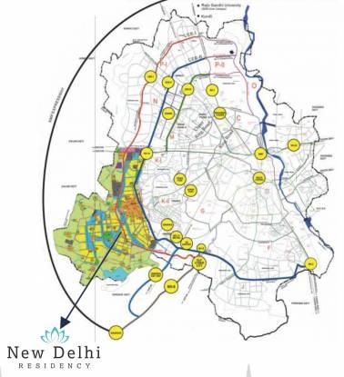 Platinum Delhi Co operative Group Housing Yojna Location Plan