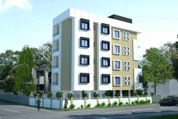 Concrete Ganguly Bhawan Elevation