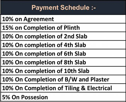 Vitthal Bhuvi 2 Payment Plan