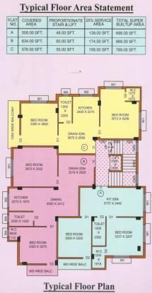 Siddhi Vinayak Maa Tara Apartment Cluster Plan