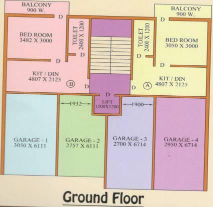 Siddhi Vinayak Vinayak Apartment 3 Cluster Plan