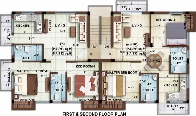 Avigna AHPL Eminence Apartment Cluster Plan