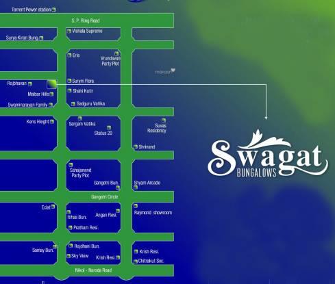 Shahi Silaj Shantanam Bunglows Location Plan