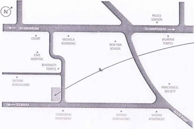 Earth Madhav Homes Location Plan