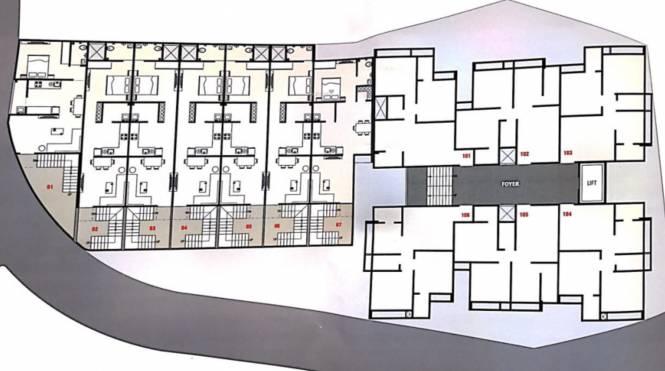 RK Madni Residency Layout Plan