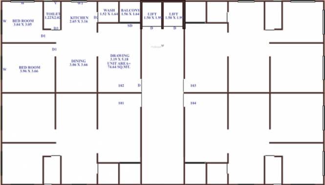 Sakar Satsang Residency Cluster Plan