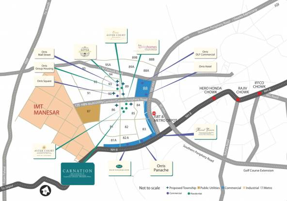 Orris Carnation Residency Location Plan