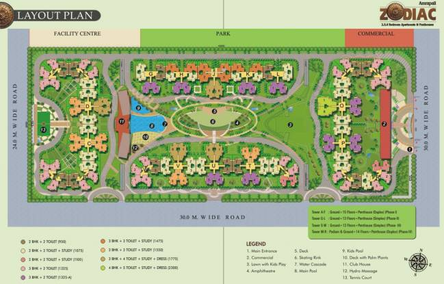 Amrapali Zodiac Layout Plan