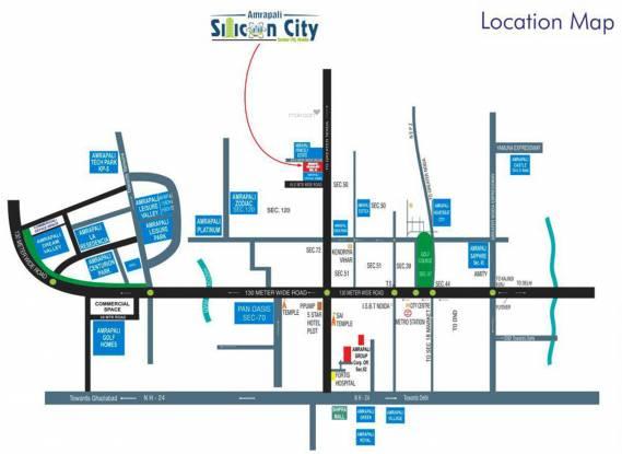 Amrapali Silicon City Location Plan