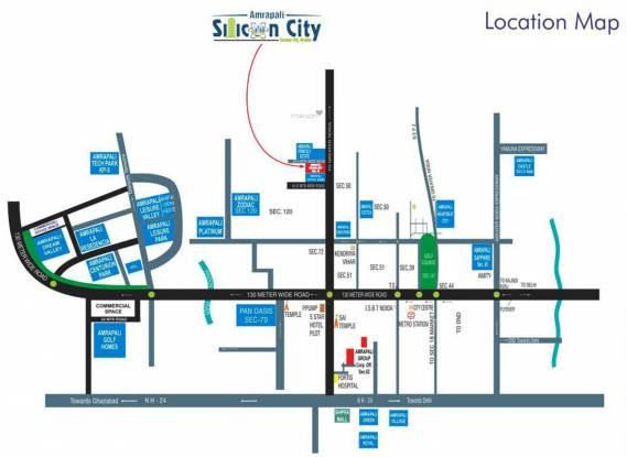 Amrapali Silicon City Location Plan