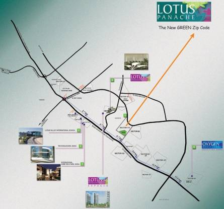 3C Lotus Panache Location Plan