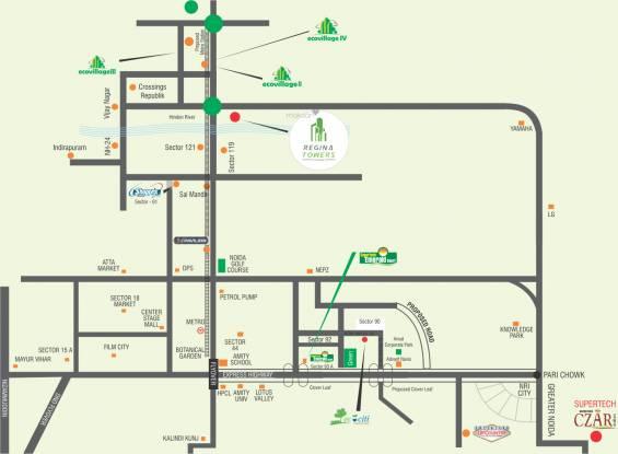 Supertech Eco Village 1 Location Plan