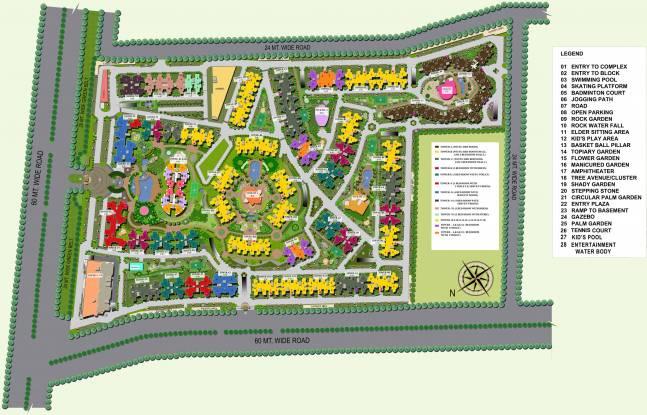 Supertech Eco Village 1 Site Plan