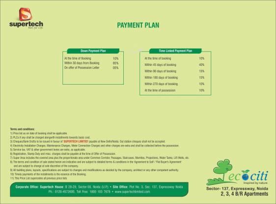 Supertech Ecociti Payment Plan