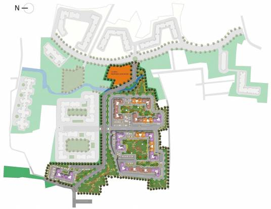 DLF Westend Heights New Town Site Plan