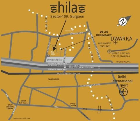 Raheja Shilas Location Plan