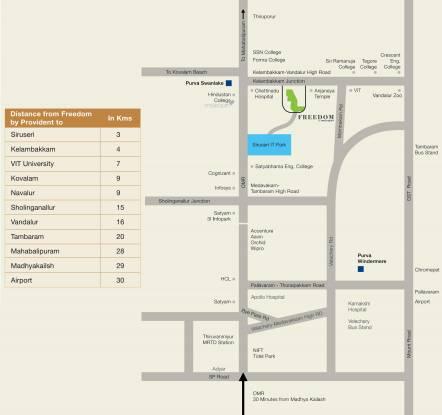 Provident Freedom Location Plan