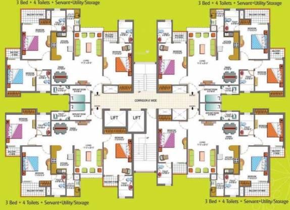 Paramount Floraville Cluster Plan