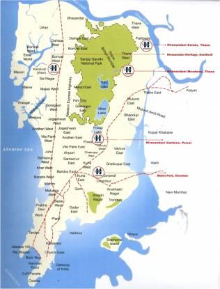 Hiranandani Estate Location Plan