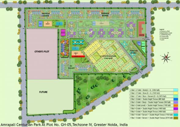 Amrapali Terrace Homes Layout Plan