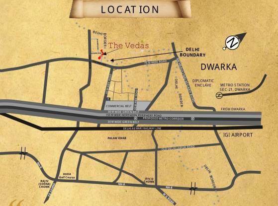 Raheja Vedas Location Plan