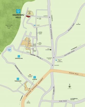 Kalpataru Hills Location Plan