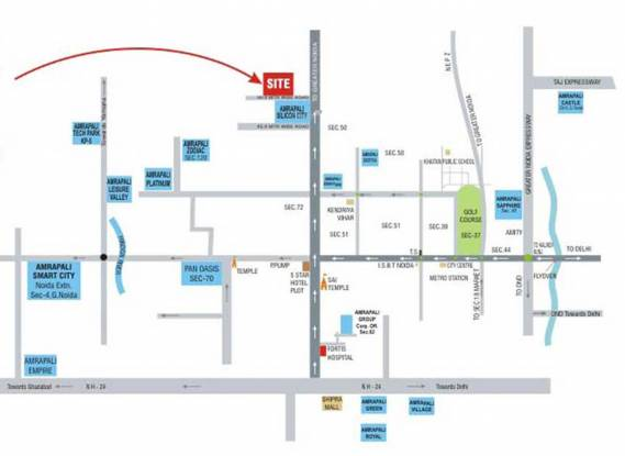 Amrapali Princely Estate Location Plan