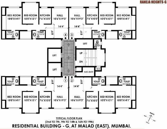Raheja Heights Cluster Plan