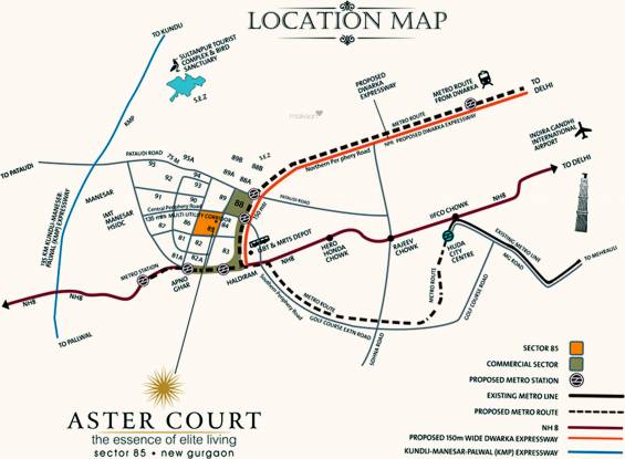 Orris Aster Court Location Plan