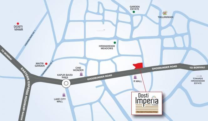 Dosti Imperia Location Plan