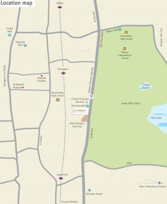 Lodha Fiorenza Location Plan