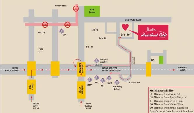 Amrapali Heartbeat City Location Plan
