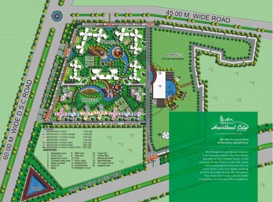 Amrapali Heartbeat City Site Plan