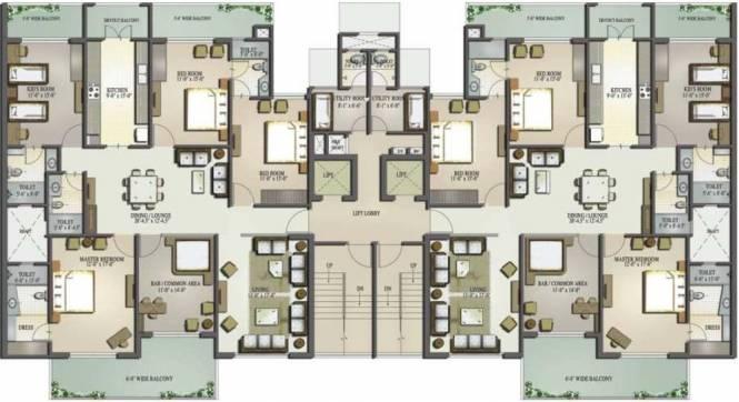 Mahagun Moderne Cluster Plan