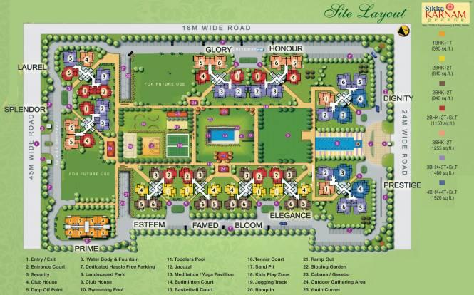 Sikka Karnam Greens Layout Plan