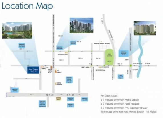 Amrapali Pan Oasis Location Plan