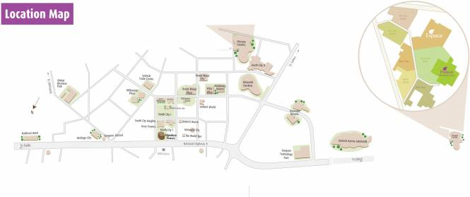 Unitech Fresco Location Plan