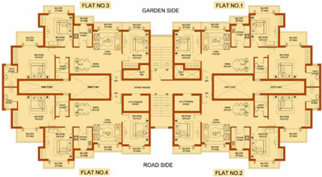 Amrapali Platinum Cluster Plan