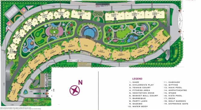 Amrapali Platinum Site Plan
