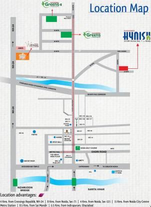 Panchsheel Hynish Location Plan
