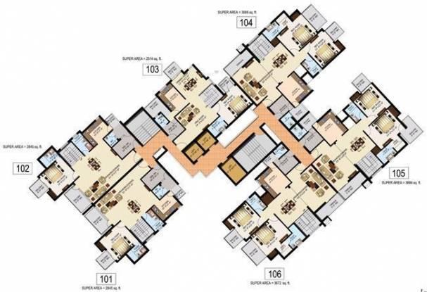 Sidharatha NCR Lotus Cluster Plan