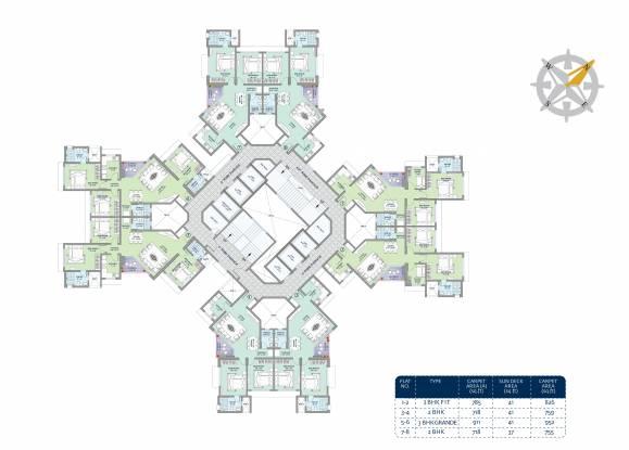 Nirmal Turquoise Cluster Plan