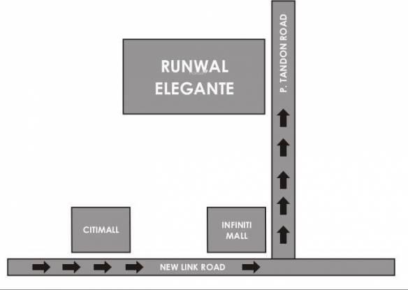 Runwal Elegante Location Plan